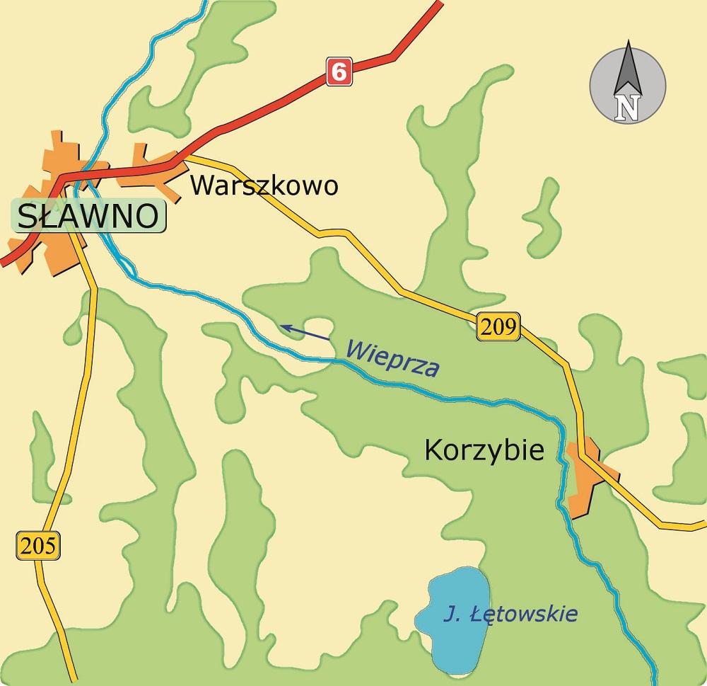 Wieprza mapa